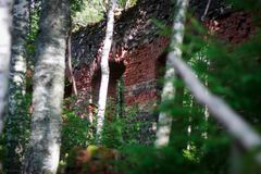 Rovine del fonditore del ferro di Tulmozersky Fotografia Stock Libera da Diritti