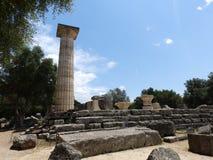 Rovine del greco antico sotto il sole fotografia stock
