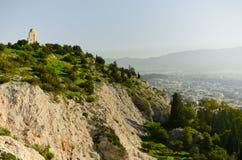 Rovine del Greco che trascurano Atene Fotografie Stock