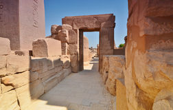 Rovine del hrama di Karnak Steny Luxor Egypt Immagini Stock Libere da Diritti