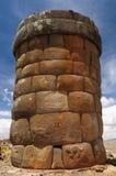 Rovine del Inca in Cutimbo, lago Titicaca, Perù fotografia stock