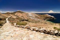Rovine del Inca, Isla del Sol, lago Titicaca, Bolivia Fotografie Stock
