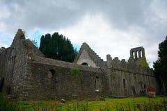 Rovine del monastero, Malahide, Irlanda immagine stock libera da diritti