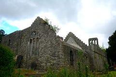 Rovine del monastero, Malahide, Irlanda fotografia stock
