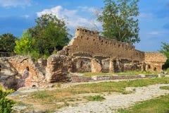 Rovine del monastero Negoiesti Fotografia Stock