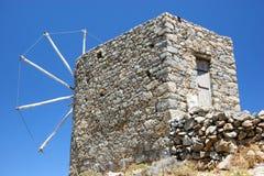 Rovine del mulino a vento in crete Immagine Stock Libera da Diritti