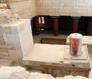 Rovine del palazzo di Cnosso Heraklion, Crete, Grecia Fotografie Stock Libere da Diritti