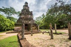 Rovine del palazzo di Polonnaruwa nello Sri Lanka eredità Immagini Stock