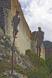 Rovine del primo castello del Dracula Immagine Stock Libera da Diritti