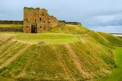 Rovine del Priory di Tynemouth Fotografie Stock Libere da Diritti