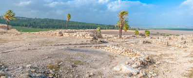 Rovine del telefono Megiddo Fotografia Stock
