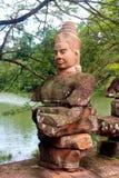 Rovine del tempiale del wat di Angkor Fotografia Stock