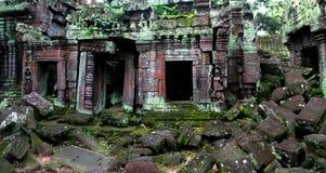 Rovine del tempiale del wat di Angkor Immagine Stock Libera da Diritti