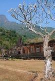 Rovine del tempiale Laos di Wat Phu Fotografia Stock
