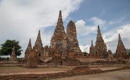 Rovine del tempio antico in Ayudhya Tailandia fotografia stock libera da diritti