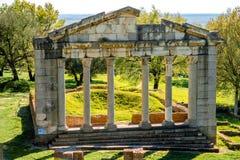 Rovine del tempio in Apollonia antico Immagine Stock