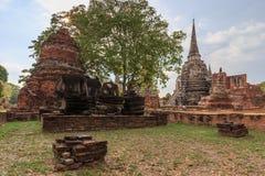 Rovine del tempio di Ayutthaya Immagini Stock