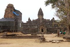 Rovine del tempio di Bakong Immagine Stock