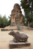 Rovine del tempio di Bakong Fotografia Stock