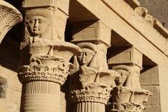 Rovine del tempio di Philae Immagini Stock