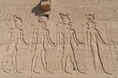 Rovine del tempio egiziano antico Fotografia Stock