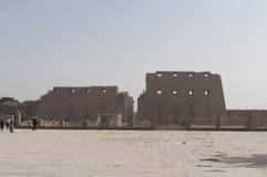 Rovine del tempio egiziano antico Immagine Stock