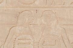 Rovine del tempio egiziano antico Fotografie Stock Libere da Diritti