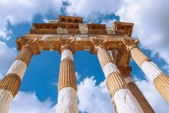 Rovine del tempio romano Capitolium a Brescia Tempio Capitoli fotografia stock