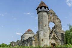 Rovine dell'abbazia cistercian medievale nella Transilvania Fotografia Stock
