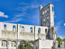 Rovine dell'abbazia di Jumieges in Francia del Nord L'abbazia ? la rovina di un monastero costruito dai canoni regolari nello XVI fotografia stock libera da diritti