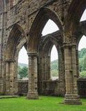 Rovine dell'abbazia di Tintern, una precedente chiesa in Galles Fotografia Stock Libera da Diritti
