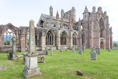 Rovine dell'abbazia Melrose Immagine Stock Libera da Diritti