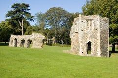 Rovine dell'abbazia, st Edmunds, Suffolk della fossa Fotografia Stock Libera da Diritti