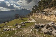 Rovine dell'agora in Arykanda Fotografia Stock