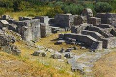 Rovine dell'anfiteatro antico alla spaccatura, Croazia Fotografia Stock
