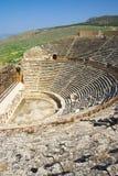 Rovine dell'anfiteatro in Hierapolis, Turchia Immagini Stock