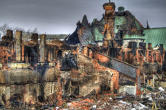Rovine dell'arsenale di Quebec City Immagine Stock