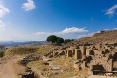 Rovine dell'oggetto d'antiquariato di Pergamon Immagini Stock