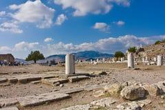 Rovine dell'oggetto d'antiquariato di Pergamon Fotografia Stock