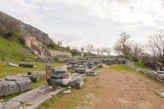Rovine della basilica A dell'atrio di Filippi Fotografie Stock