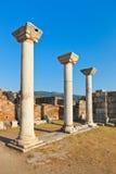 Rovine della basilica della st Johns a Ephesus Turchia Fotografia Stock