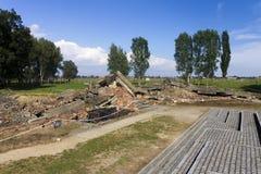 Rovine della camera a gas 3 a Auschwitz II-Birkenau Fotografie Stock Libere da Diritti