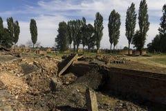 Rovine della camera a gas 2 a Auschwitz II-Birkenau Immagini Stock