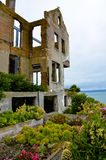 Rovine della casa dei warden's sull'isola di Alcatraz Fotografia Stock Libera da Diritti