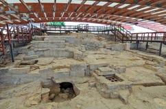 Rovine della casa di Eustolios a Kourion sul Cipro Fotografie Stock Libere da Diritti