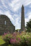 Rovine della cattedrale di Ardmore - Repubblica Irlandese fotografia stock libera da diritti