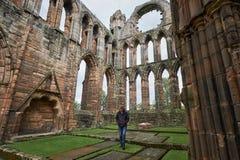 Rovine della cattedrale di Elgin Fotografie Stock