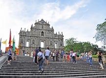 Rovine della cattedrale di St Paul Fotografie Stock Libere da Diritti