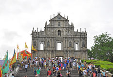 Rovine della cattedrale di St Paul Fotografia Stock