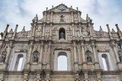 Rovine della cattedrale di St Paul Fotografia Stock Libera da Diritti